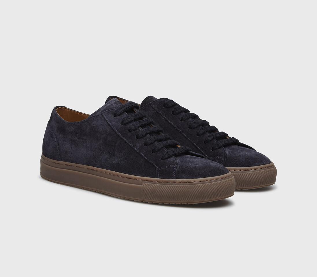 Sneakers da uomo in suede | blu notte - Doucal's