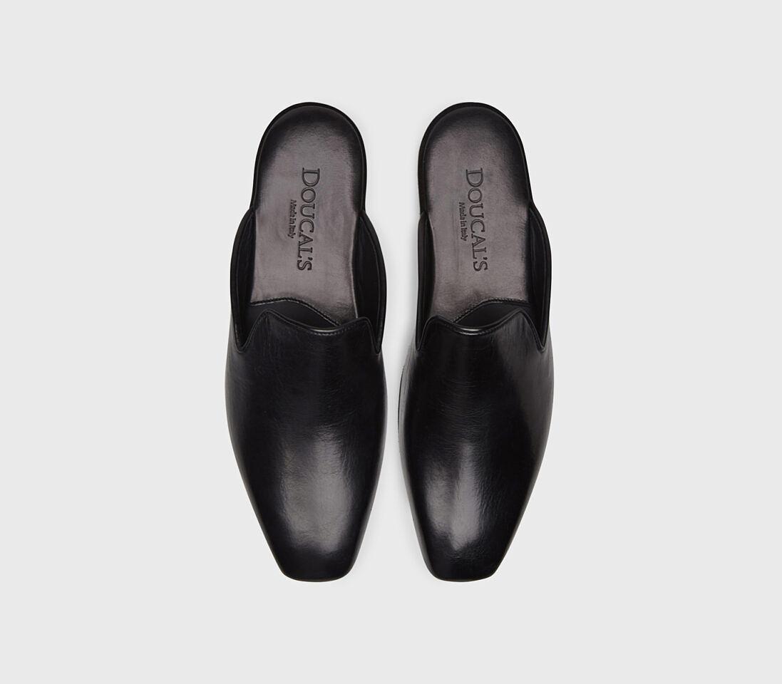 Pantofola da camera in pelle   nero - Doucal's
